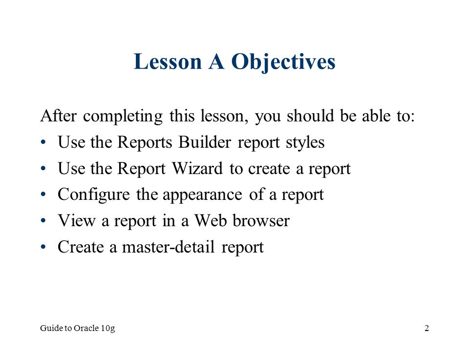 Chapter 7: Creating Database Reports - ppt video online download