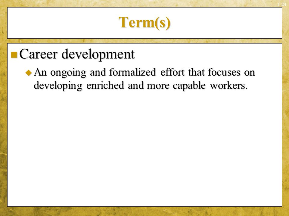 Term(s) Career development