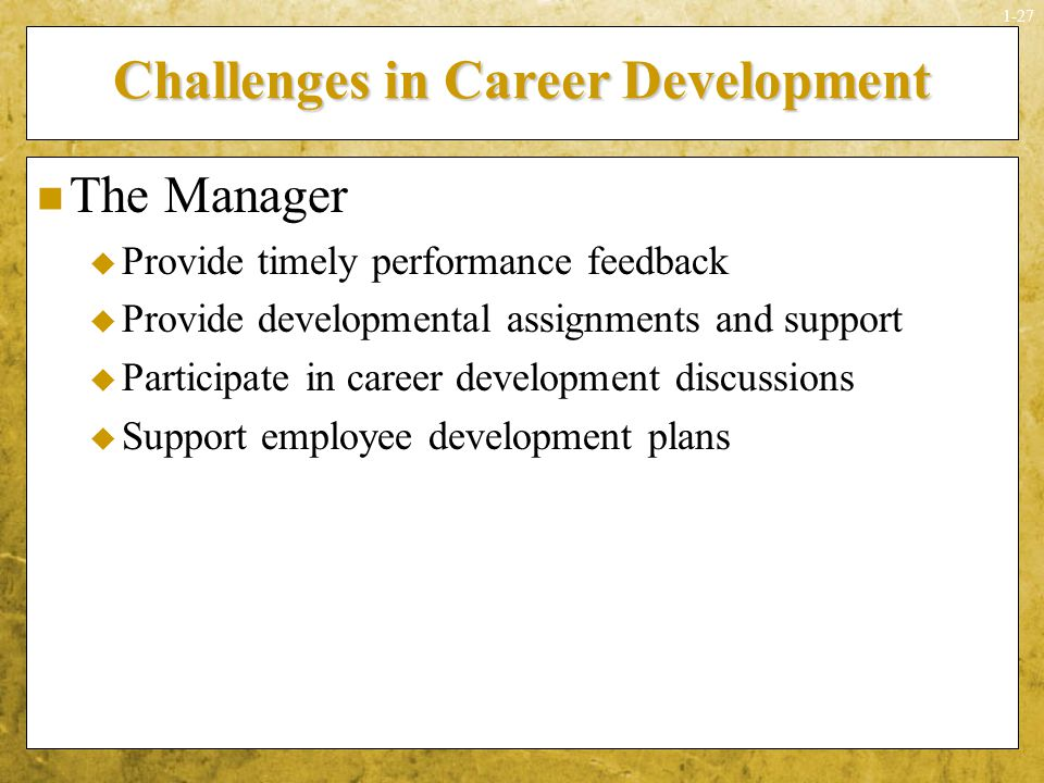 Challenges in Career Development