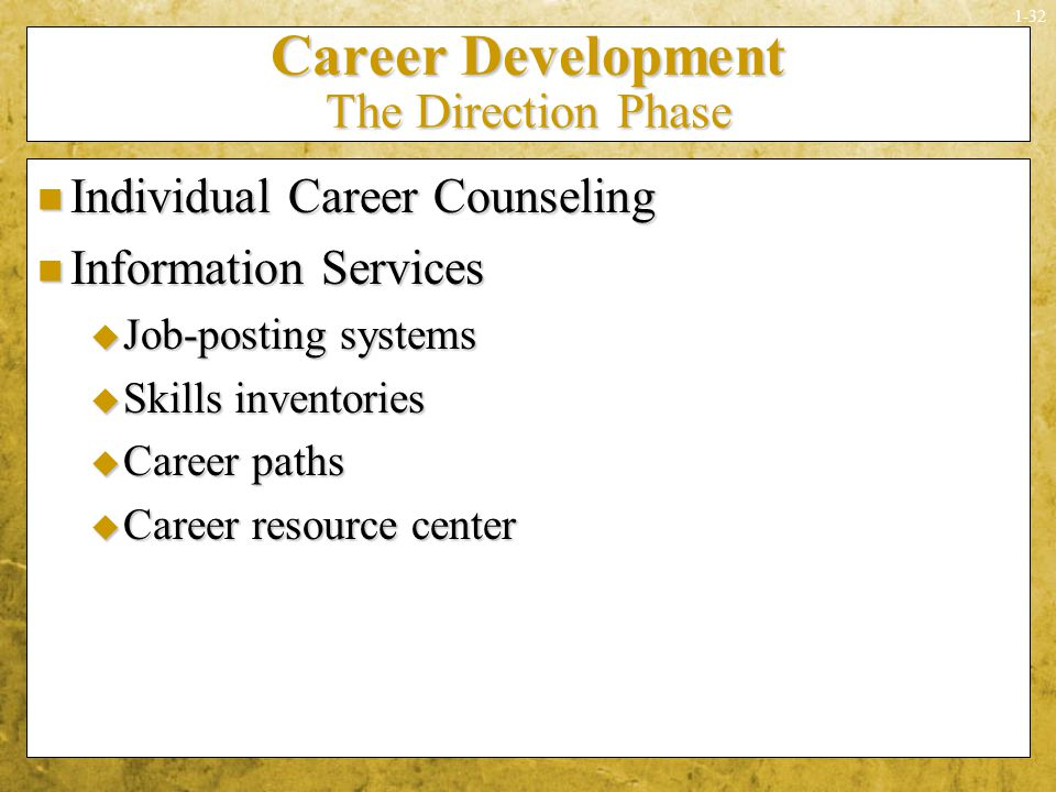 Career Development The Direction Phase