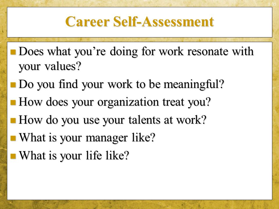 Career Self-Assessment
