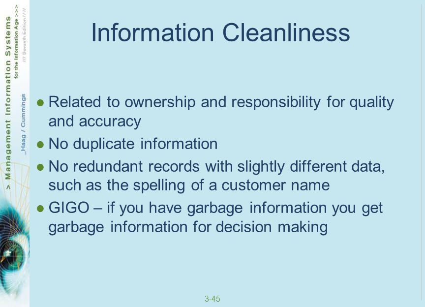 Information Cleanliness