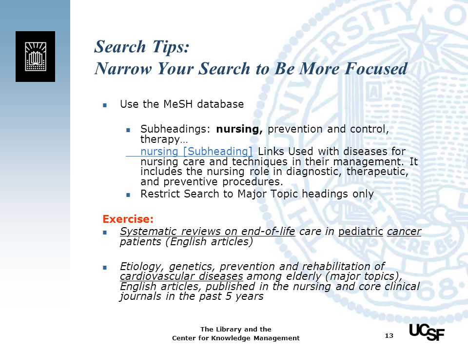 Search Tips: Narrow Your Search to Be More Focused