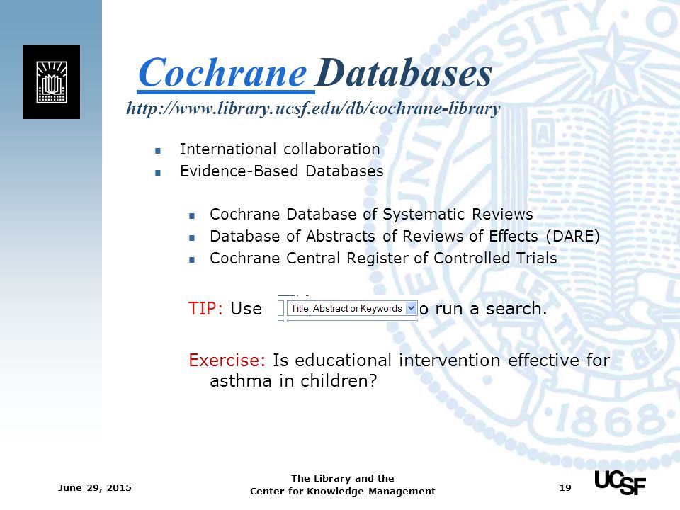 Cochrane Databases