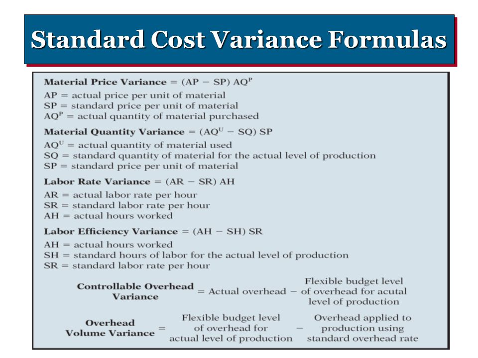 Standard Costs and Variance Analysis - ppt video online download