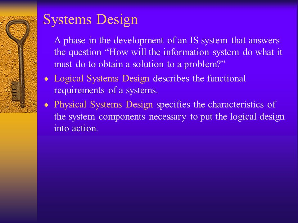 Systems Design Implementation Maintenance And Review Ppt Video Online Download