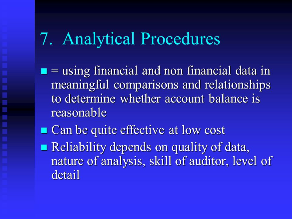 7. Analytical Procedures
