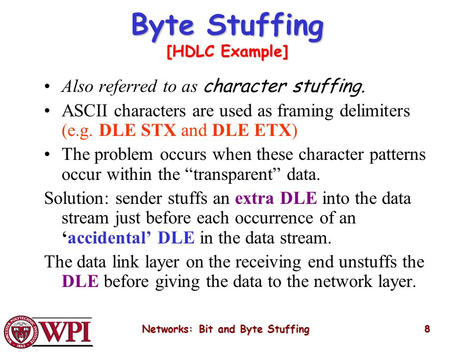 Networks: Bit and Byte Stuffing - ppt video online download
