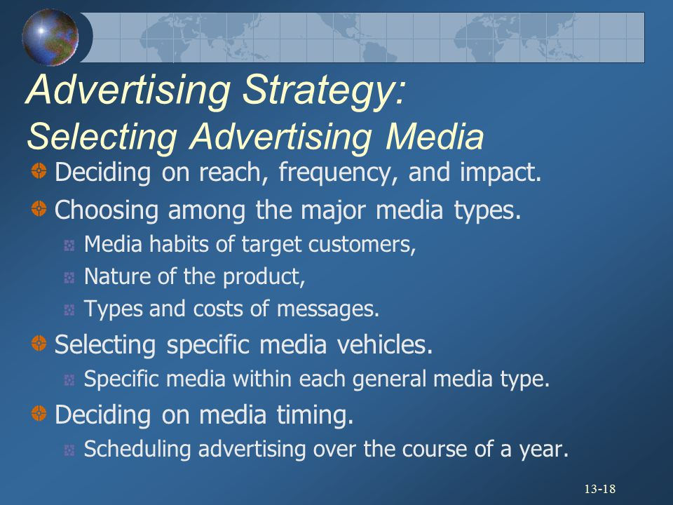Advertising Strategy: Selecting Advertising Media