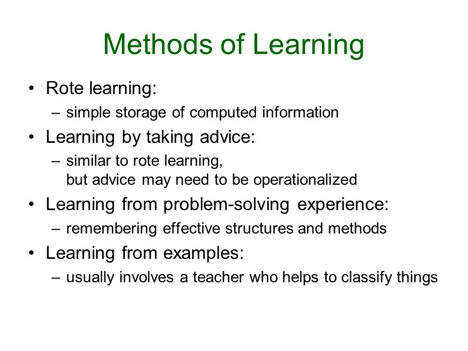 Learning: Introduction and Overview - ppt download