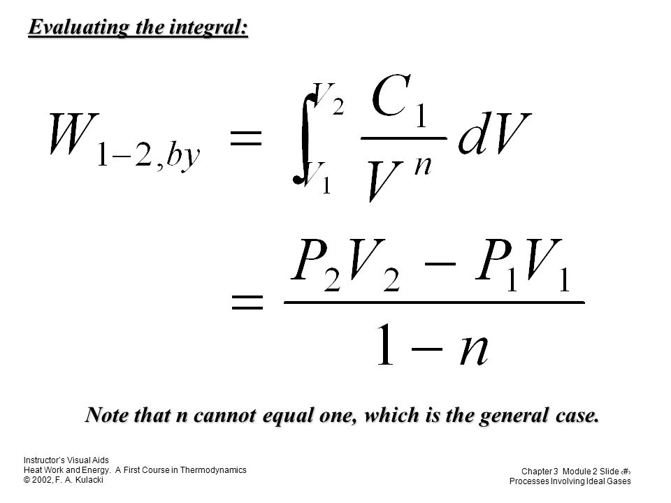 Evaluating the integral: