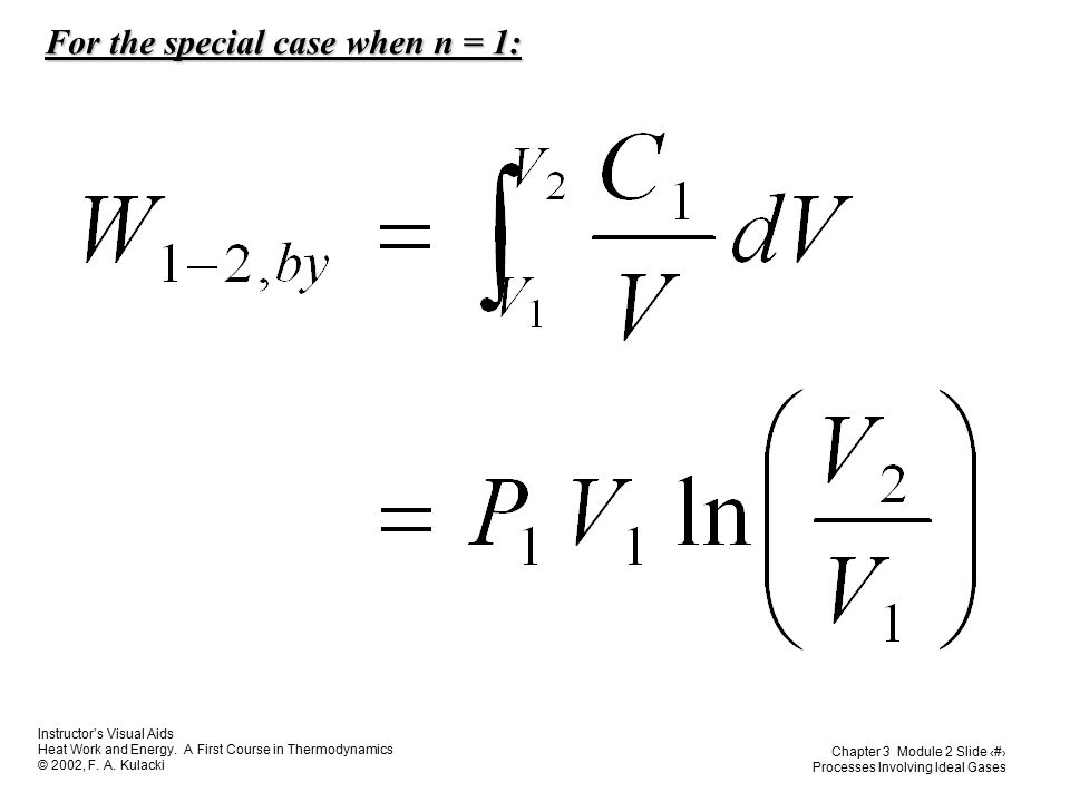 For the special case when n = 1: