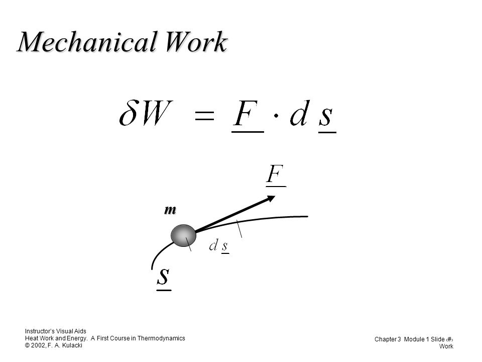 Mechanical Work m