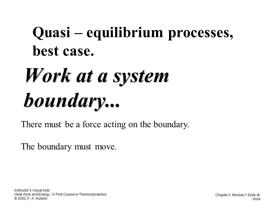 Work at a system boundary...