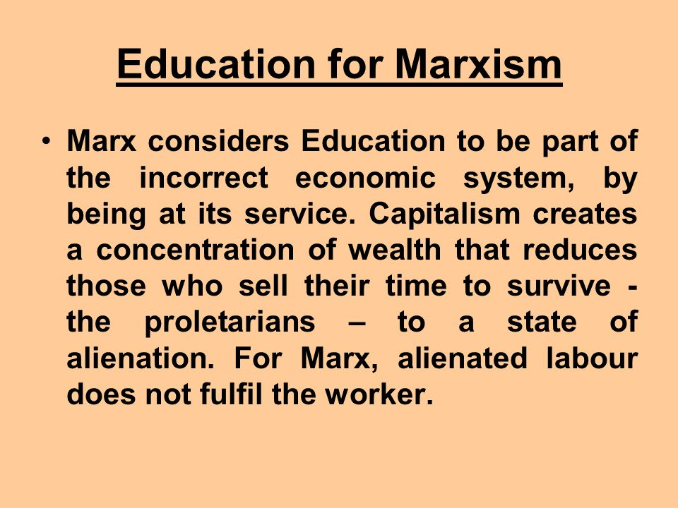Education for Marxism