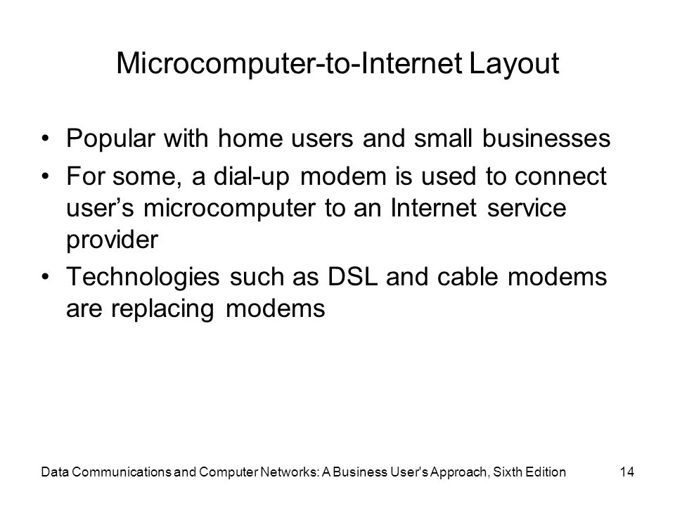 Microcomputer-to-Internet Layout