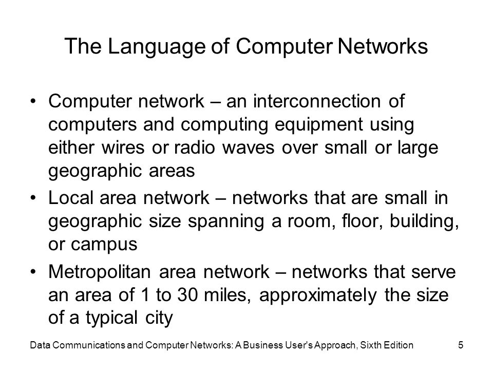 The Language of Computer Networks