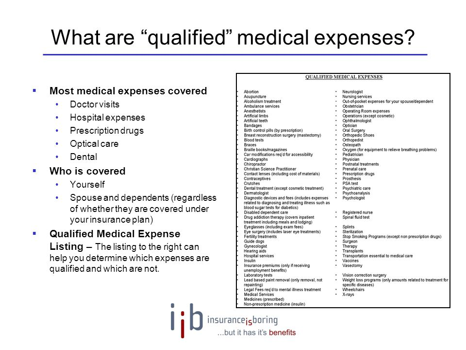 What are qualified medical expenses