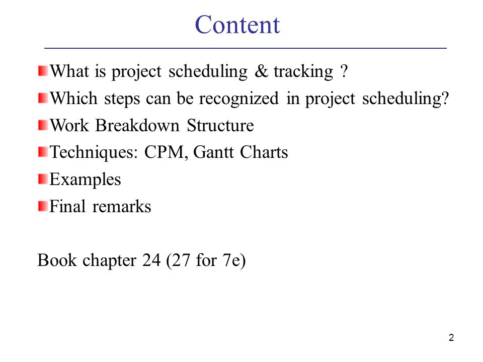 software project schedule example