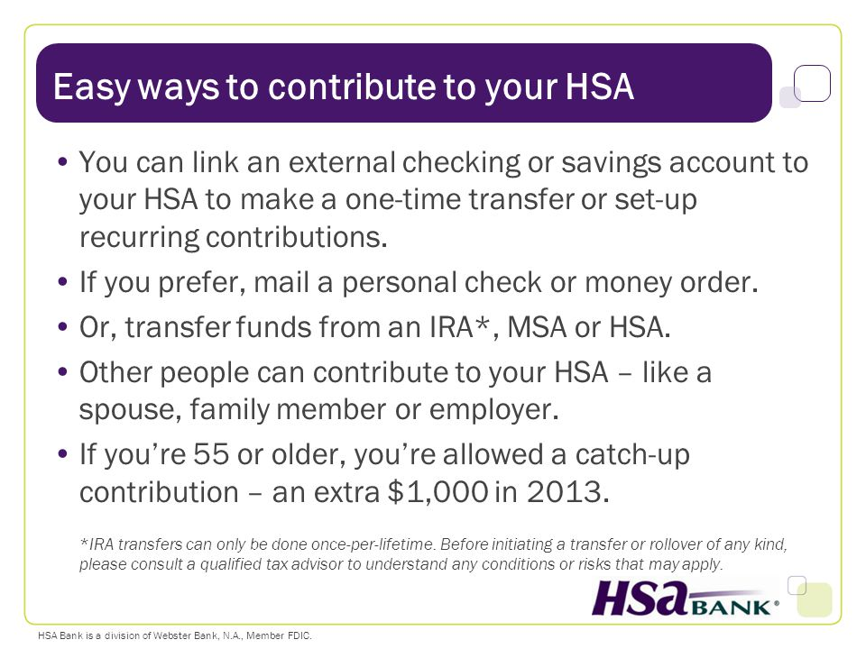 Easy ways to contribute to your HSA