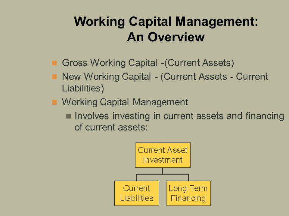Working Capital Management: An Overview