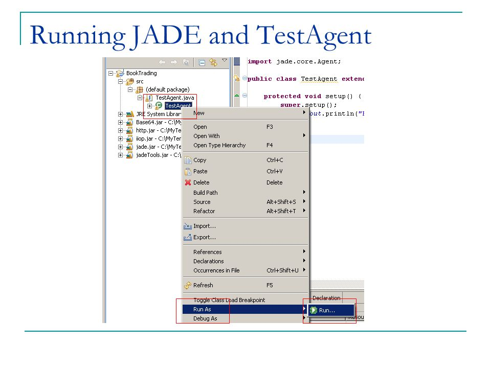 Programming Agents with JADE for Multi-Agent Systems - ppt