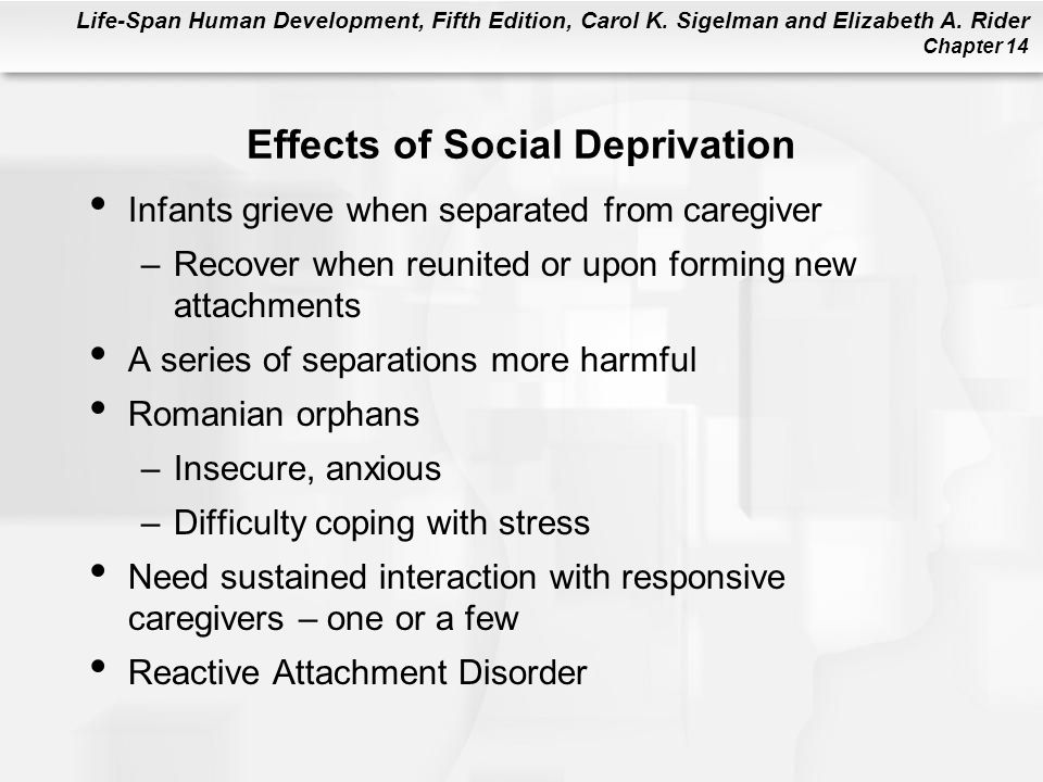 Effects of Social Deprivation