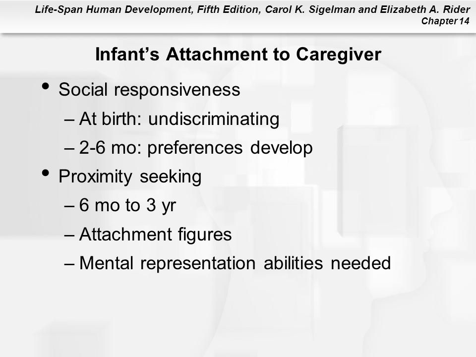 Infant's Attachment to Caregiver