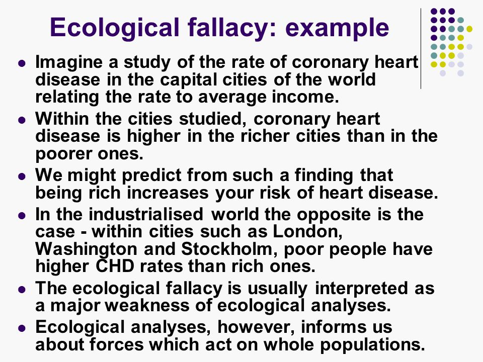 examples of ecological fallacy in research