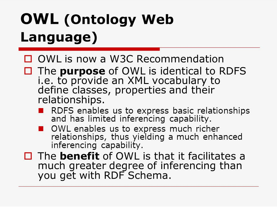 OWL (Ontology Web Language)