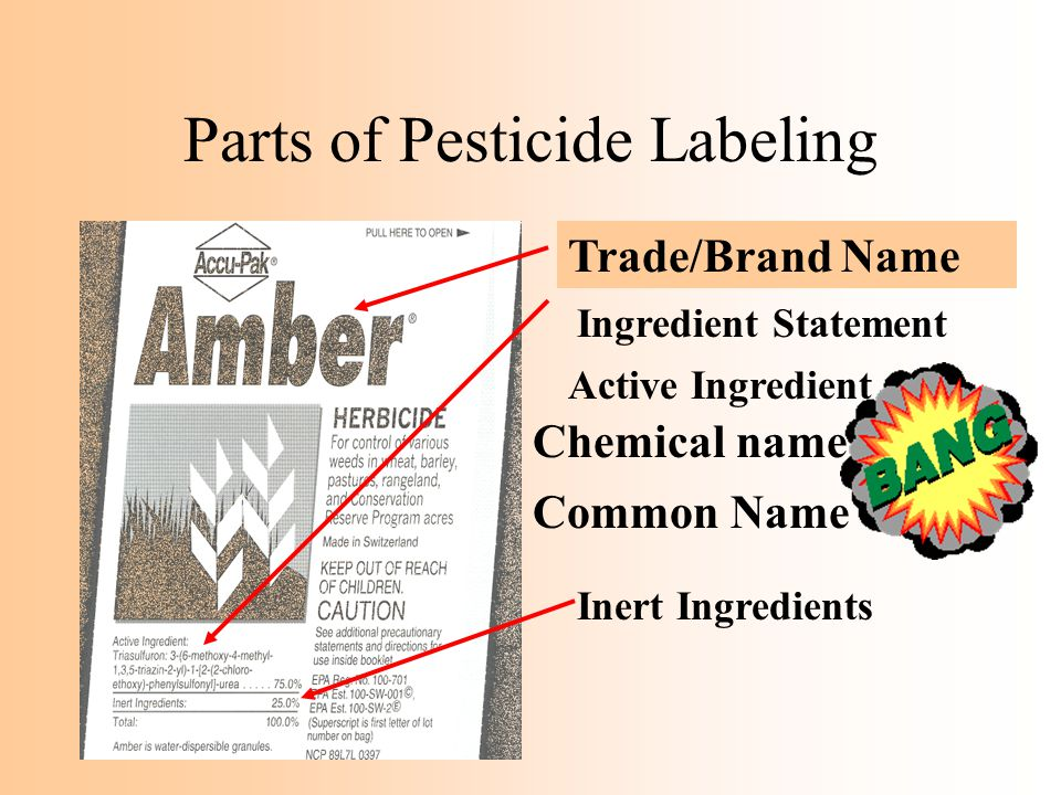 Parts of Pesticide Labeling