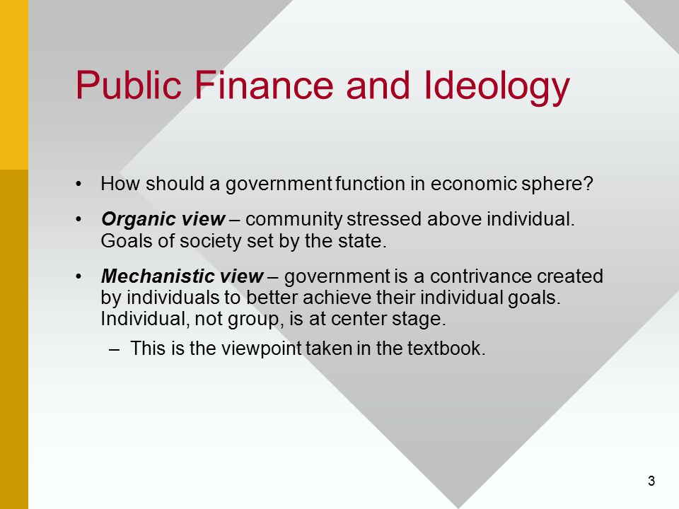 Public Finance and Ideology