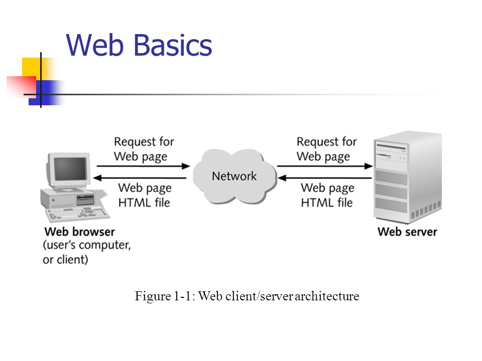 Figure 1-1: Web client/server architecture