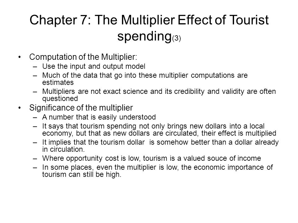 tourism multiplier definition