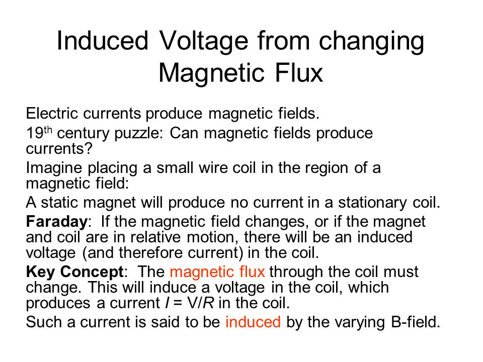Induced Voltage from changing Magnetic Flux