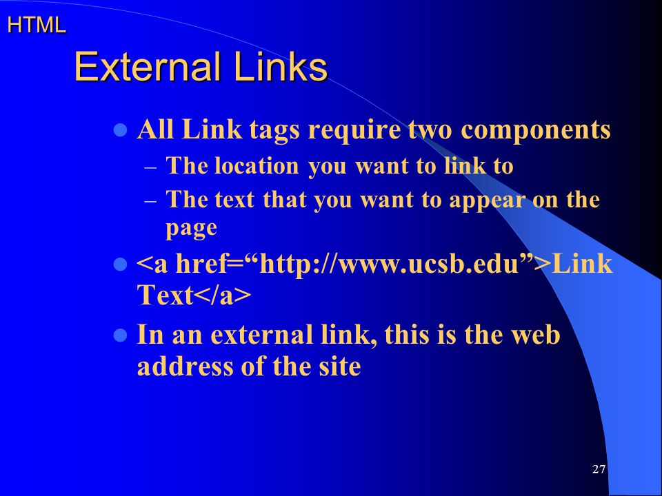 All Link tags require two components