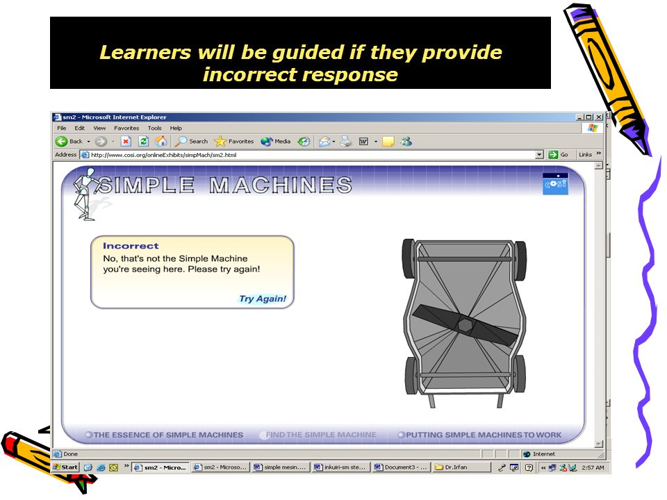 Learners will be guided if they provide incorrect response