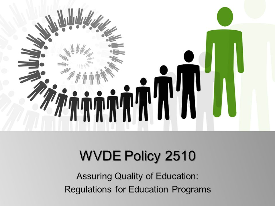 Assuring Quality of Education: Regulations for Education Programs