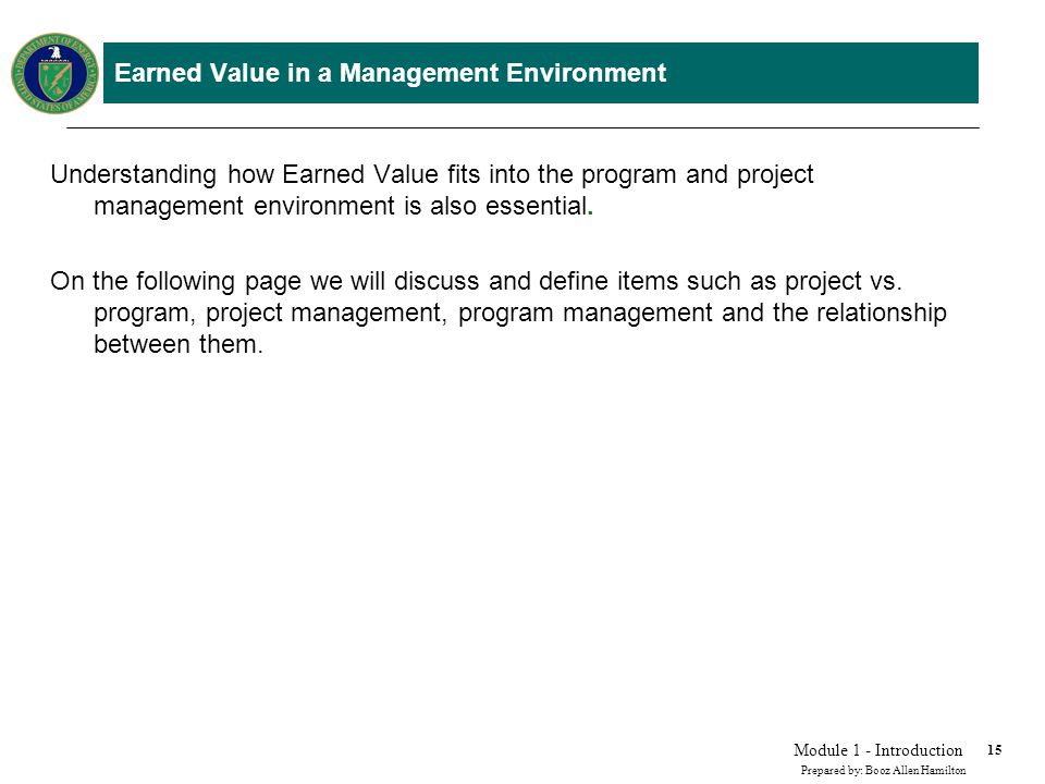 Module1 Introduction To Earned Value Ppt Video Online Download