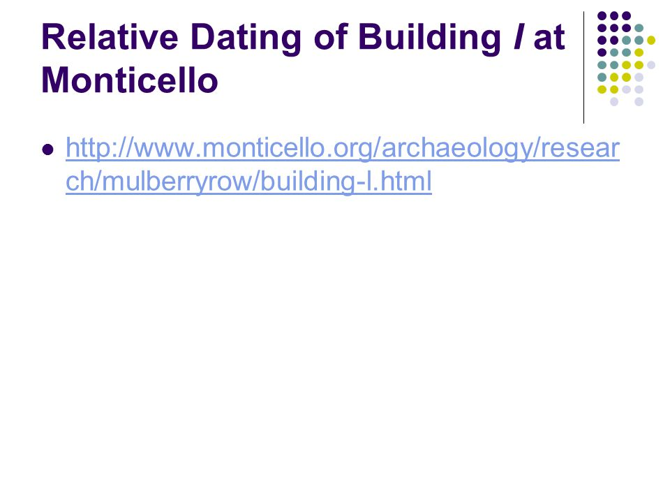 Relative dating dendrochronology archaeology