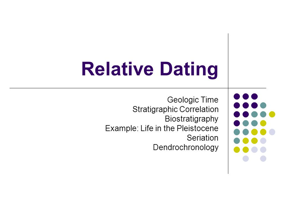 What are the two main relative age dating techniques archaeology