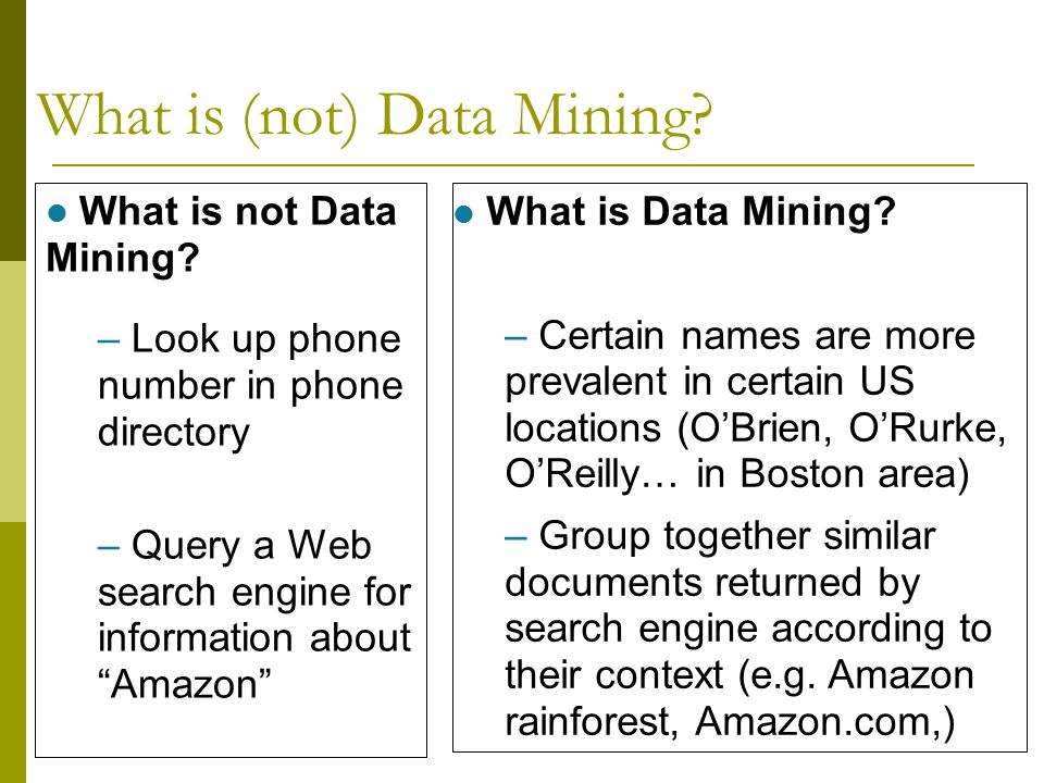 What is (not) Data Mining