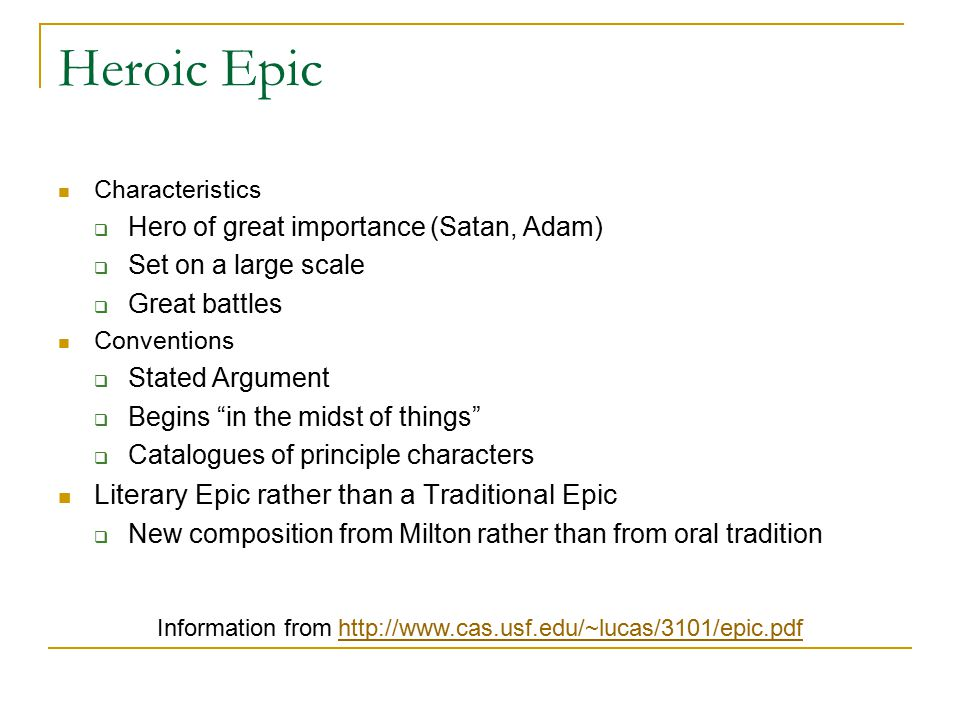 epic qualities in paradise lost