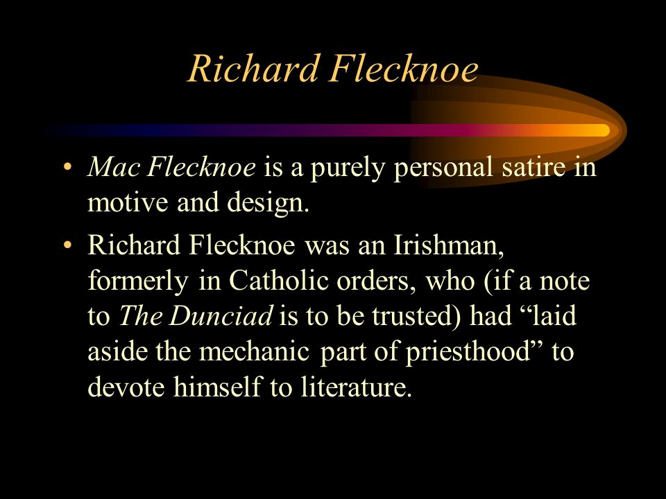 mac flecknoe satire analysis