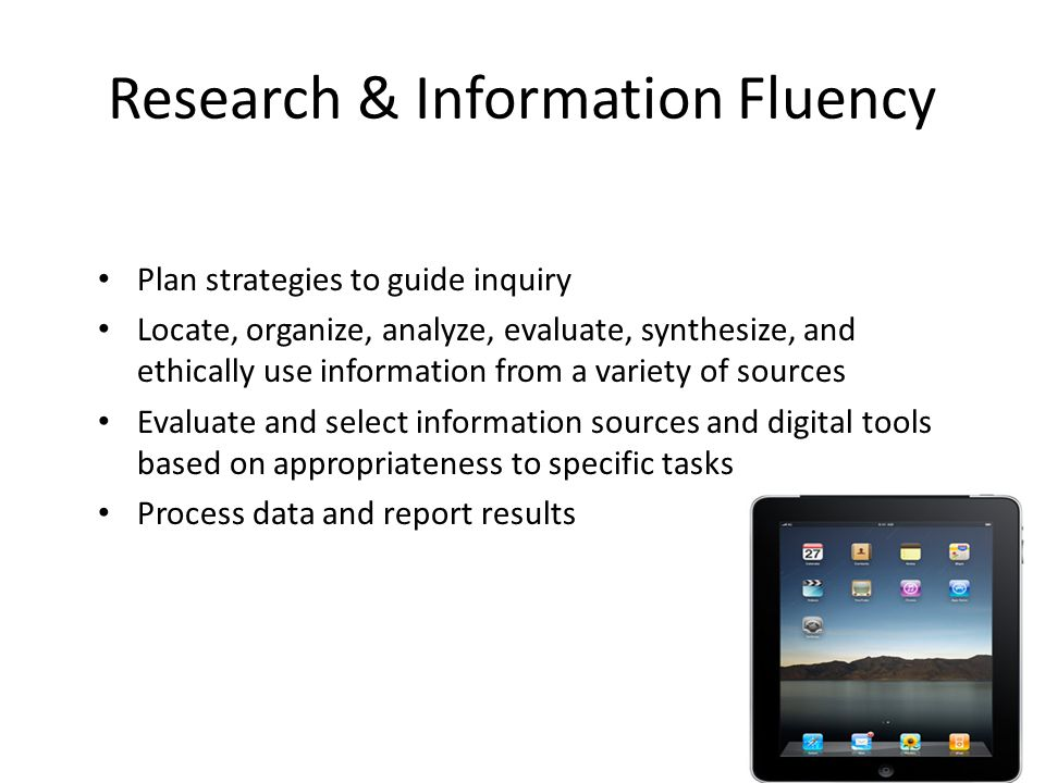 Research & Information Fluency