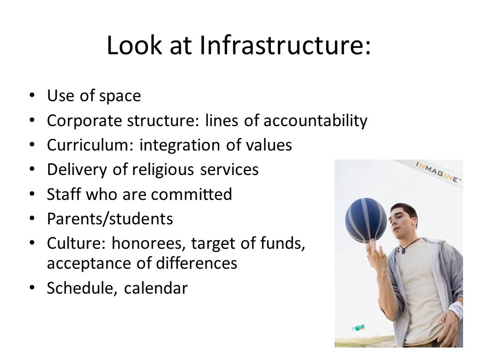 Look at Infrastructure: