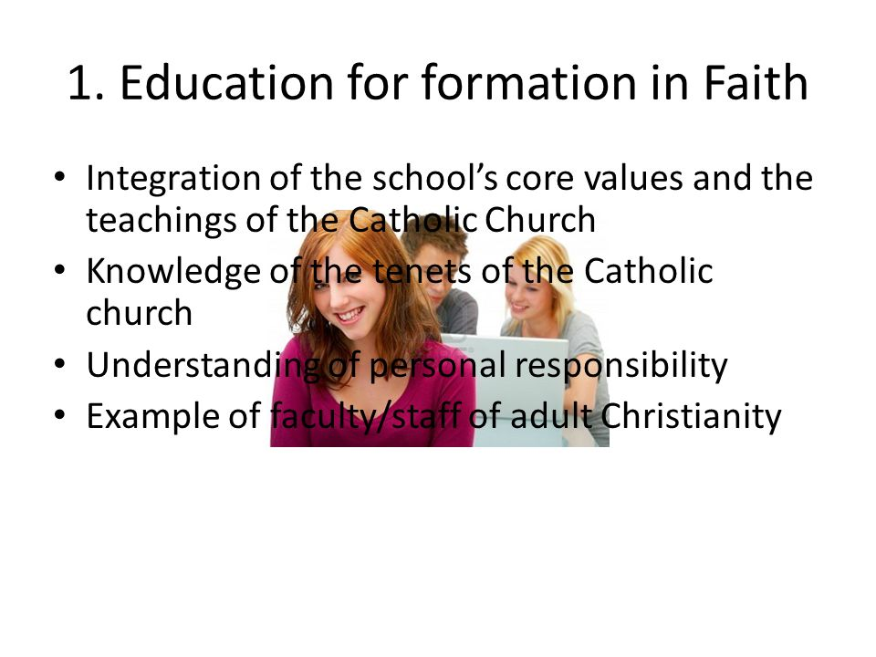 1. Education for formation in Faith