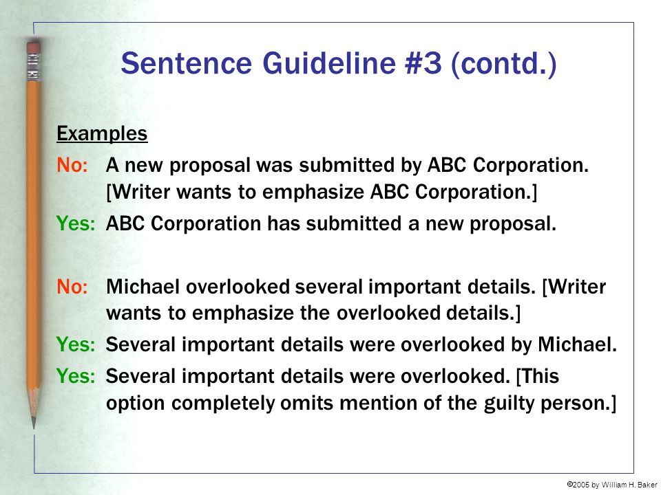 Sentence Guideline #3 (contd.)
