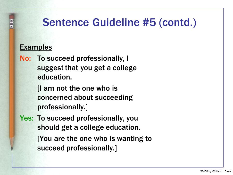 Sentence Guideline #5 (contd.)