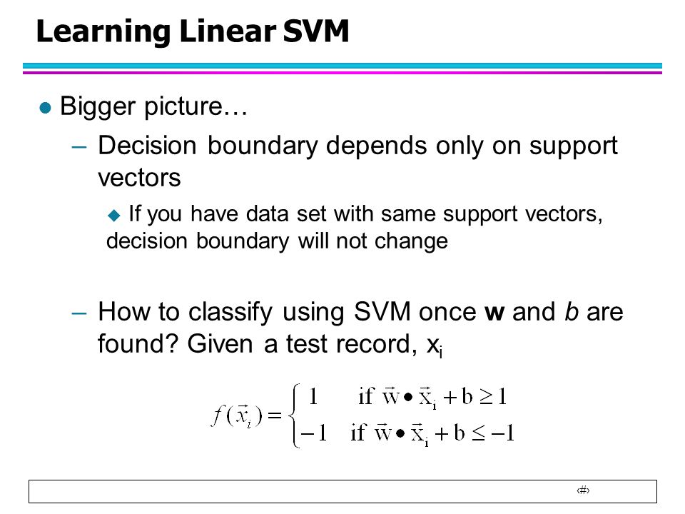 Learning Linear SVM Bigger picture…